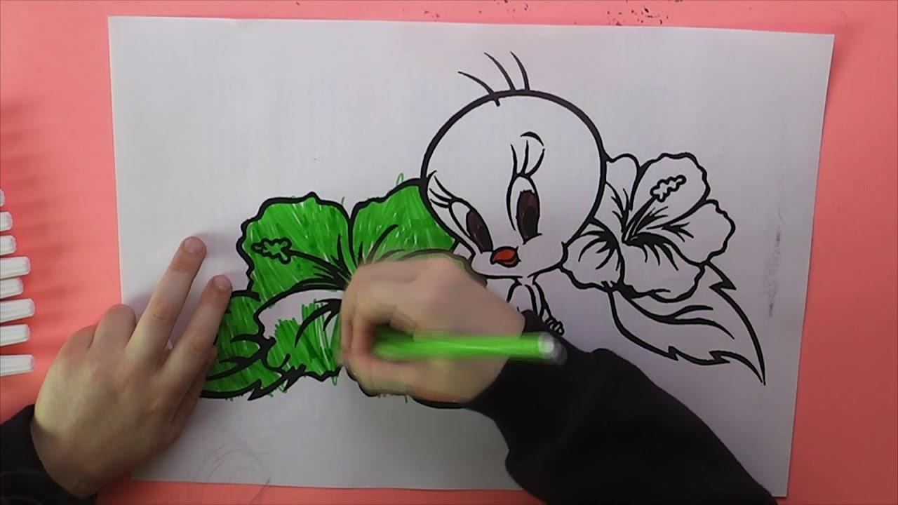 Tweety Boyama Tweety Nasıl Boyanır Coloring Tweety Youtube