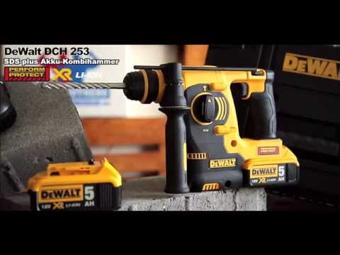 dewalt dch 253 18v akku bohrhammer preview youtube. Black Bedroom Furniture Sets. Home Design Ideas