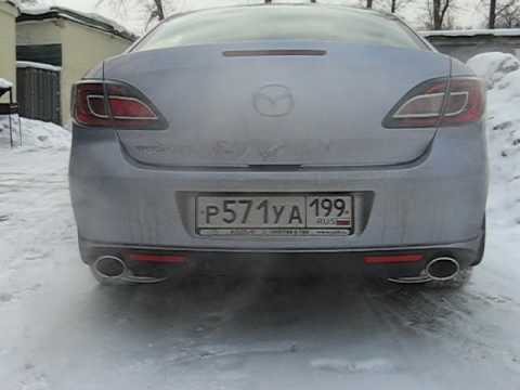 "Mazda 6 установка насадок на глушитель  в ""СпецАвто"""