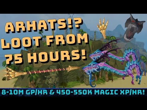 75 Hours of Arhats! 9m+ Gp & 500k+ Magic Xp/hr [Runescape 3] Loot breakdown