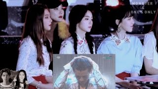 161226 red velvet react to exo monster and one and only