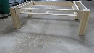 WoodWorking Building a coffee table - Fabrication d'une table basse en fr ne - Part 1