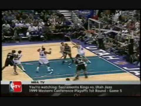 Jason Williams vs. John Stockton in 1999 NBA Playoffs Game 5