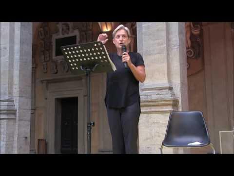 "Judith Butler - Lecture ""Critique, Crisis, Violence"" 26/06/2017"