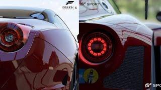 Gran Turismo Sport vs Forza Motorsport 6 | Graphics Comparison