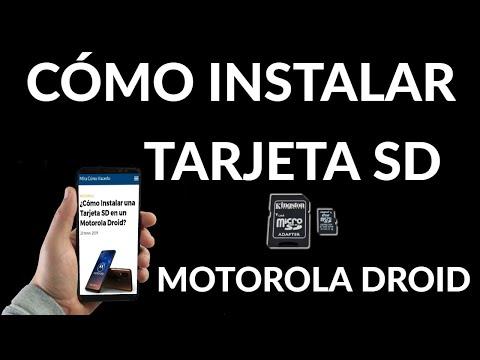Cómo Instalar una Tarjeta SD en un Motorola Droid