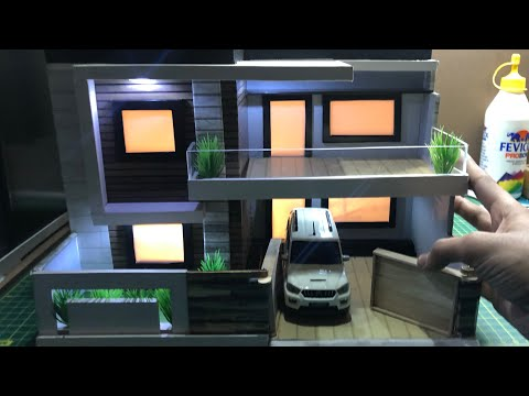 DIY Miniature Bungalow Model House with Lighting | 1:32 Scale Diorama | Mini Realistic House