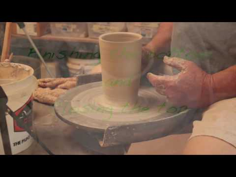 How to center on a potter's wheel