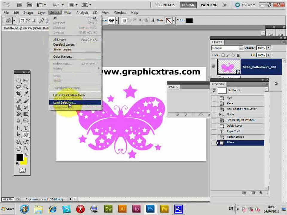 PDF vector design as a source for Photoshop custom shapes tutorial (CS5 CS4  CS3 CS2 etc)