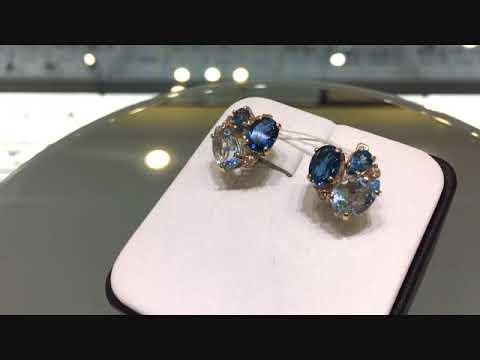 Серьги серебряные с топазом Лондон Блю Женева ПДС15ЛБ - YouTube