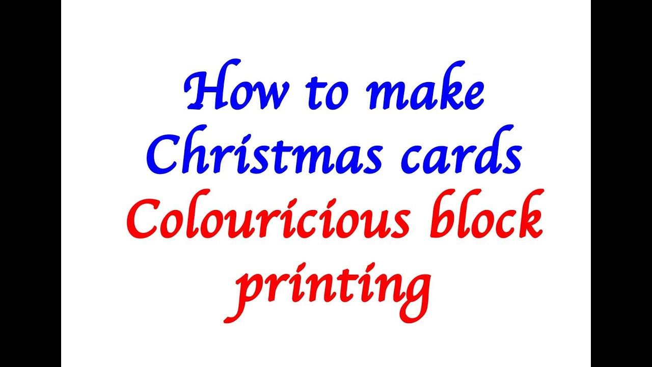 How to make Christmas cards - with block printing - YouTube