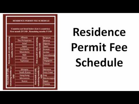 Turkey Work Residence Permit Fee 2017