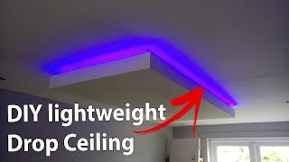DIY Lightweight Drop Ceiling lighting