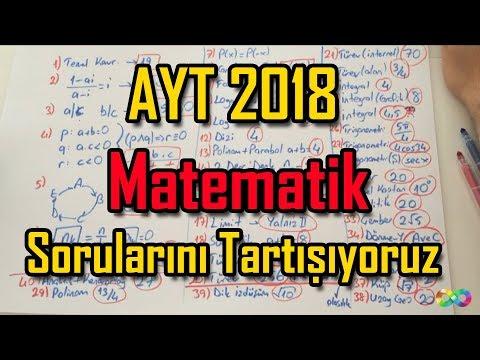 Ayt 2018 Matematik sorularını tartışıyoruz