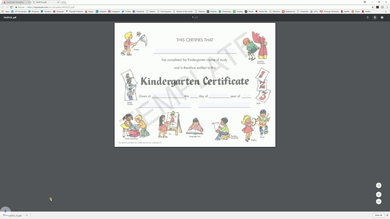 Download And Edit With System Viewer Hayes Certificate Templates