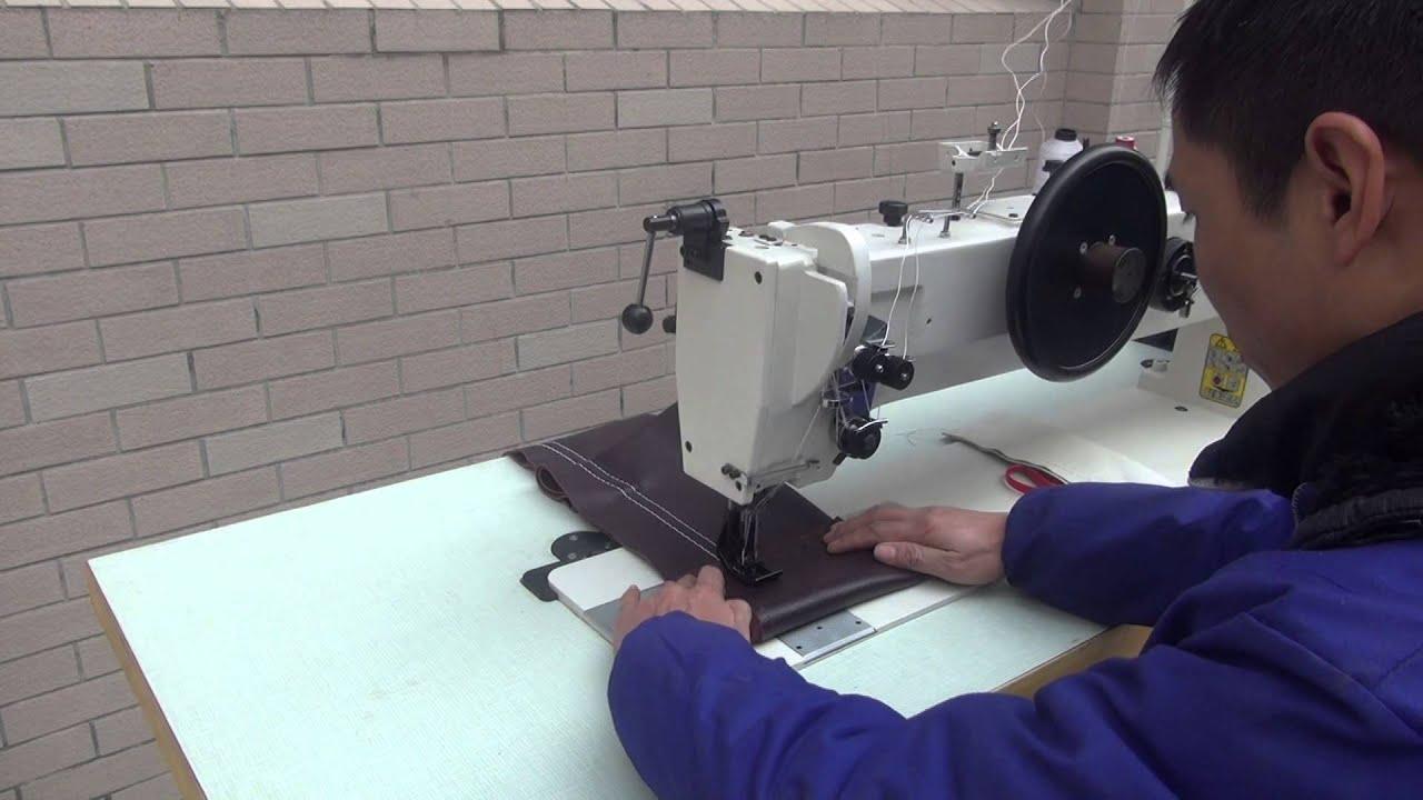 221-76-273 Тяжелая двухигольная швейная машина с длинным рукавом .