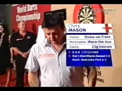Chris Mason giving Phil Taylor the W*nker Sign? - 2007 PDC World Championship