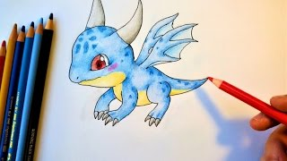How to draw a Baby Dragon
