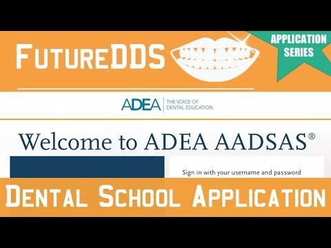 AADSAS Application Walk Through | **Dental School Application Series** || FutureDDS