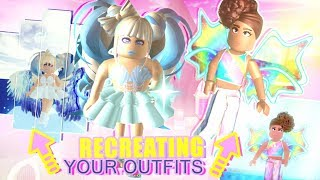 Recreating YOUR OUTFITS from TWITTER & INSTA! Roblox Royale High