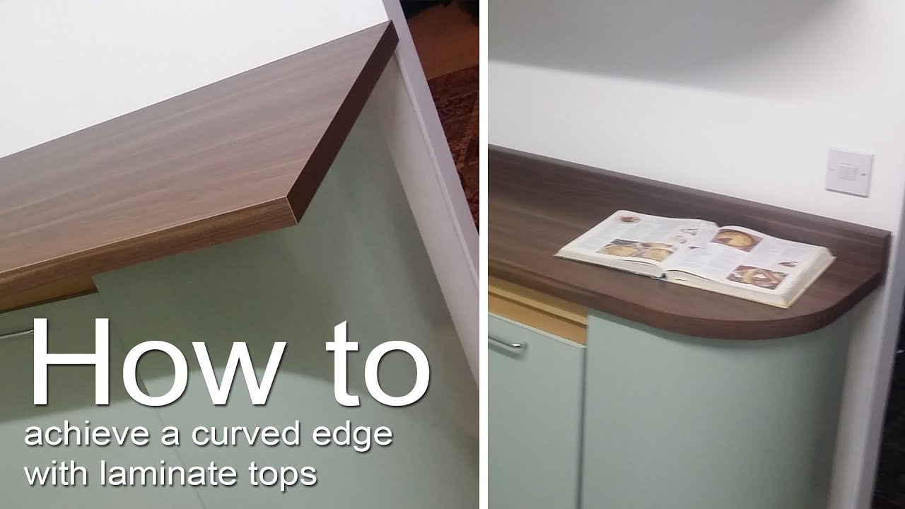 How To Cut A Laminate Worktop Countertop Into A Curved Shape And