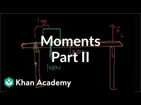 Moments (part 2) | Moments, torque, and angular momentum | Physics | Khan Academy