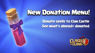 Clash of Clans Sneak Peek #5 - Town Hall 11 Update - New Spell Donations | New Donation Menu!
