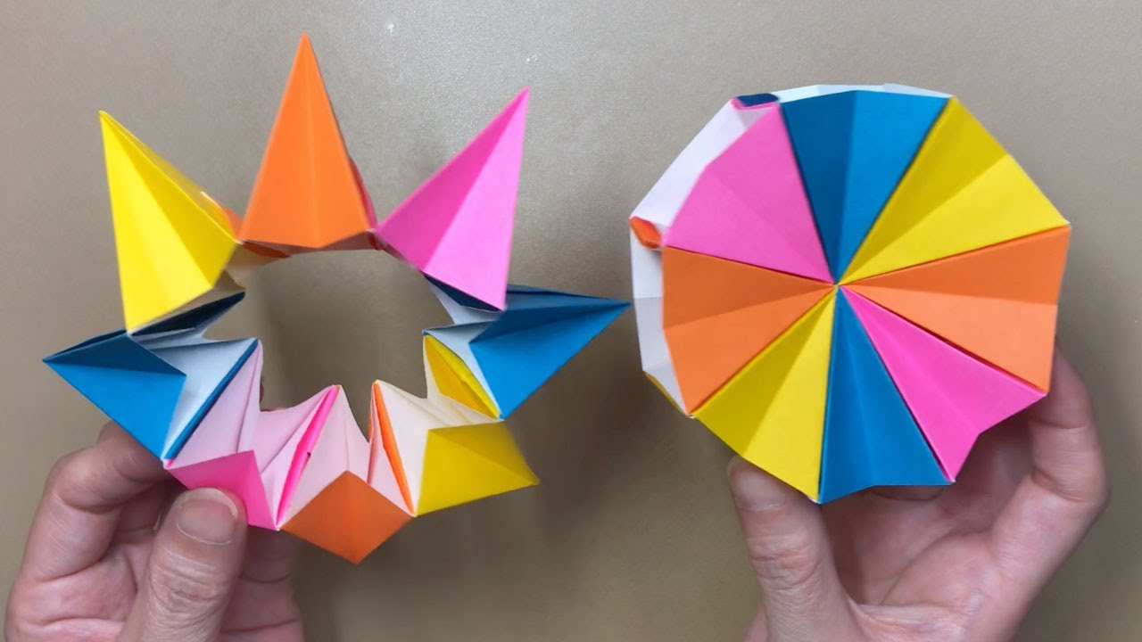 折り紙 万華鏡 8枚