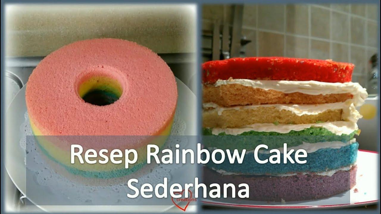 Resep Cake In Jar Rainbow: Resep Rainbow Cake Sederhana