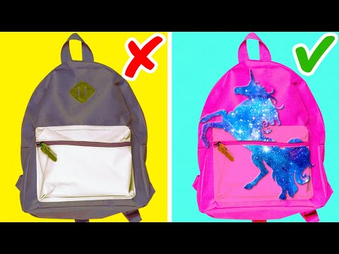 30 WAYS TO HAVE FUN AT SCHOOL || School Supply Hacks by 5-Minute DECOR!
