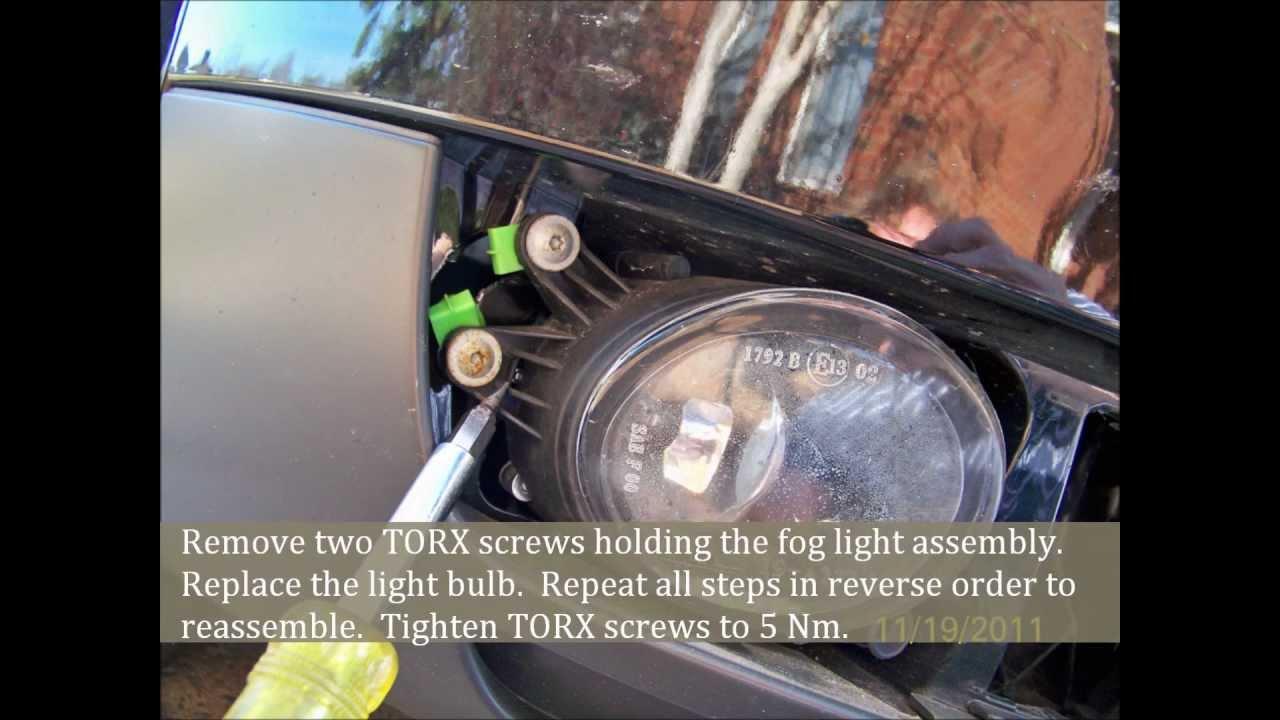 2008 Audi A4 Wiring Diagram Audi A4 Fog Light Bulb Replacement Youtube