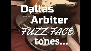 Vintage Dallas Arbiter Fuzz Face Test! Vintage Germanium NKT275 and Silicon BC183 and 108 Fuzz Face!