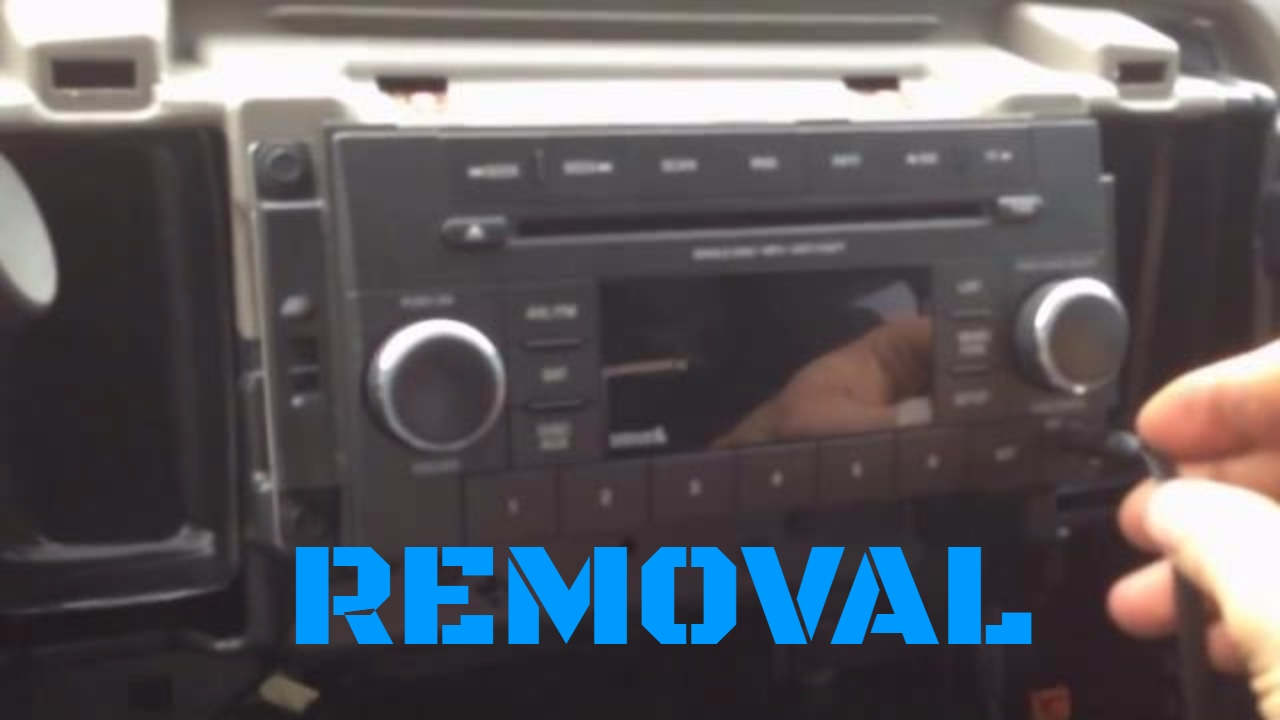 4th Gen (2009-2012) Dodge Ram 1500/2500/3500 Factory Radio/Stereo/Deck  Removal Video