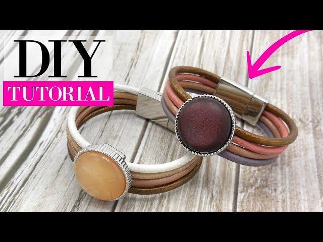 How To Make A Leather Bracelet With Magnetic Clasp