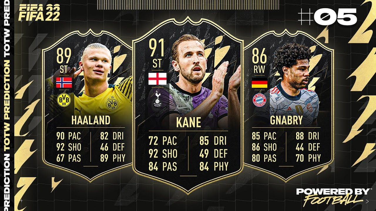 FIFA 22: TOTW 5 PREDICTIONS! IF KANE, HAALAND & GNABRY 🔥