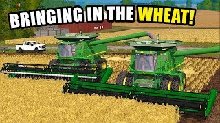 WE BOUGHT ANOTHER JD 9670 FOR WHEAT HARVEST.. | EP#17 | FARMING SIMULATOR 2017