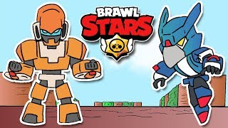 BRAWL STARS ANIMATION: CROW MECHA VS BO MECHA