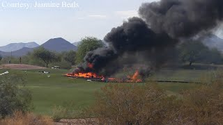 2 people dead in plane crash on Mesa golf course