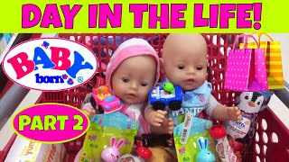 🛍 Day In The Life of Baby Born Twins Part 2 😃 Nap, Lunch, New Outfits & Shopping at Target 🚗