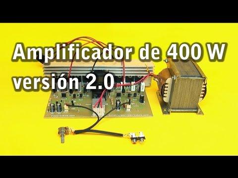 Amplificador estéreo de 400 watts versión 2.0