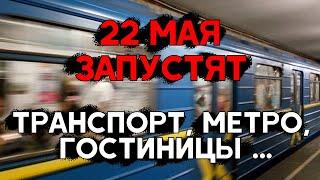 22 мая запустят наземный транспорт, метро, работу гостиниц. Служба в храмах. А когда все остальное ?
