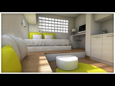 Dise o interior minipiso 15 m2 youtube for Vivir en 50 metros cuadrados