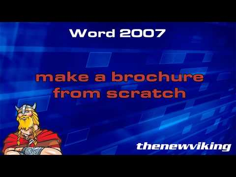 Make A Brochure From Scratch In Word 2007