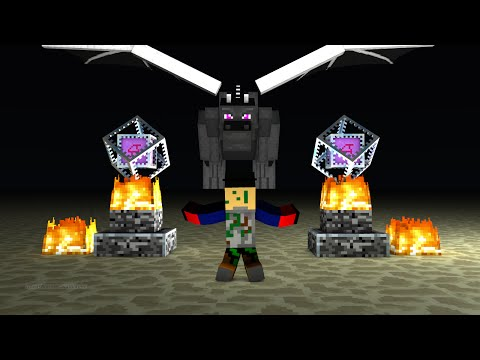 how to get to the ender dragon on minecraft pe