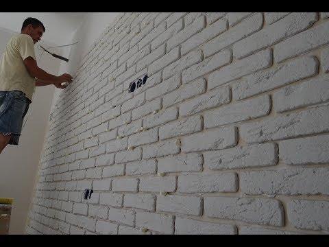 ОТДЕЛКА стен декоративным камнем ИЗ гипса своими руками Оформление стен декоративным камнем