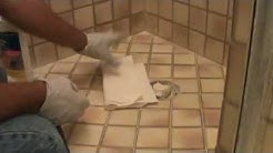 "Removing ""haze"" from a tile grout ""patch"""