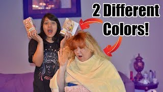 DYING MY BOYFRIEND'S MOMS HAIR!! (GONE WRONG)