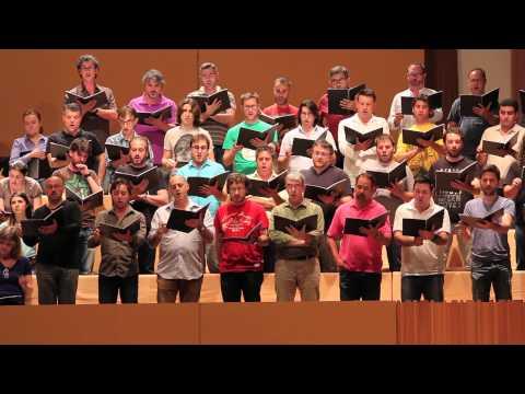Wagner: Tannhäuser (coro de peregrinos). Ensayo Cor de la Generalitat Valenciana.