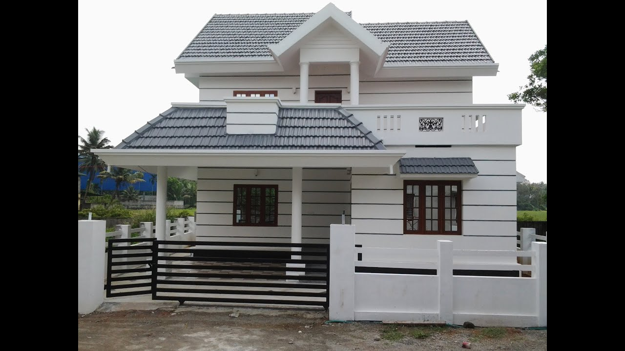 Low budget luxury villa in main road side for sale in for Small villa plans in kerala