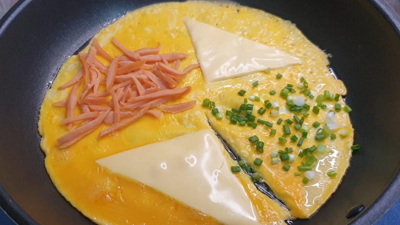 ไข่เจียวเครป ไข่เจียวพับ เมนูไข่ เมนูอาหารเช้า ทำกินง่ายๆ omelet